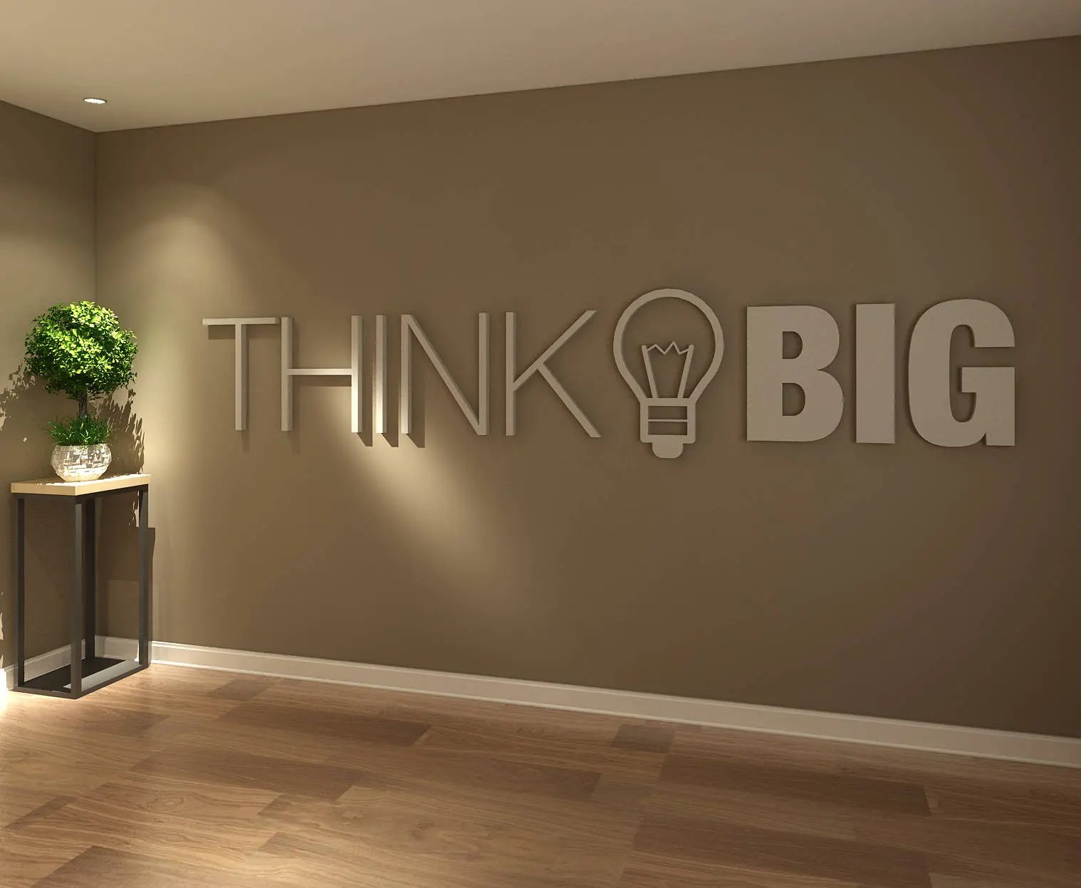 Best Think Big Office Wall Art Decor 3D Pvc Typography Etsy This Month