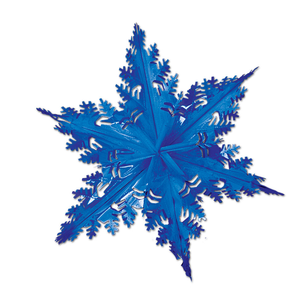 Best Large Metallic Blue Snowflake Hanging Foil Christmas This Month