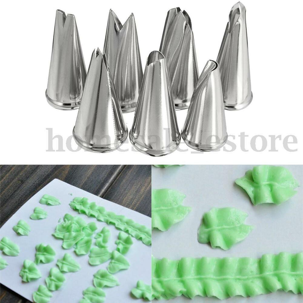 Best 7Pcs Russian Leaf Flower Icing Piping Nozzles Tips Cake This Month