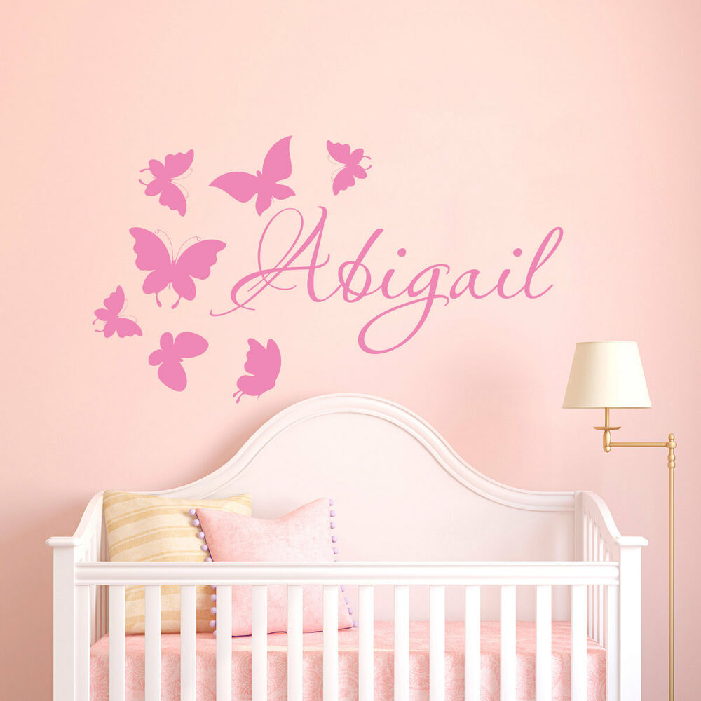 Best Wall Stickers Custom Colour Baby Name Butterfly Vinyl This Month