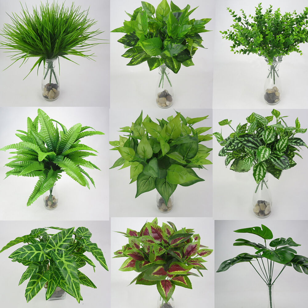 Best Artificial Plants Fake Leaf Foliage Bush Home Office This Month