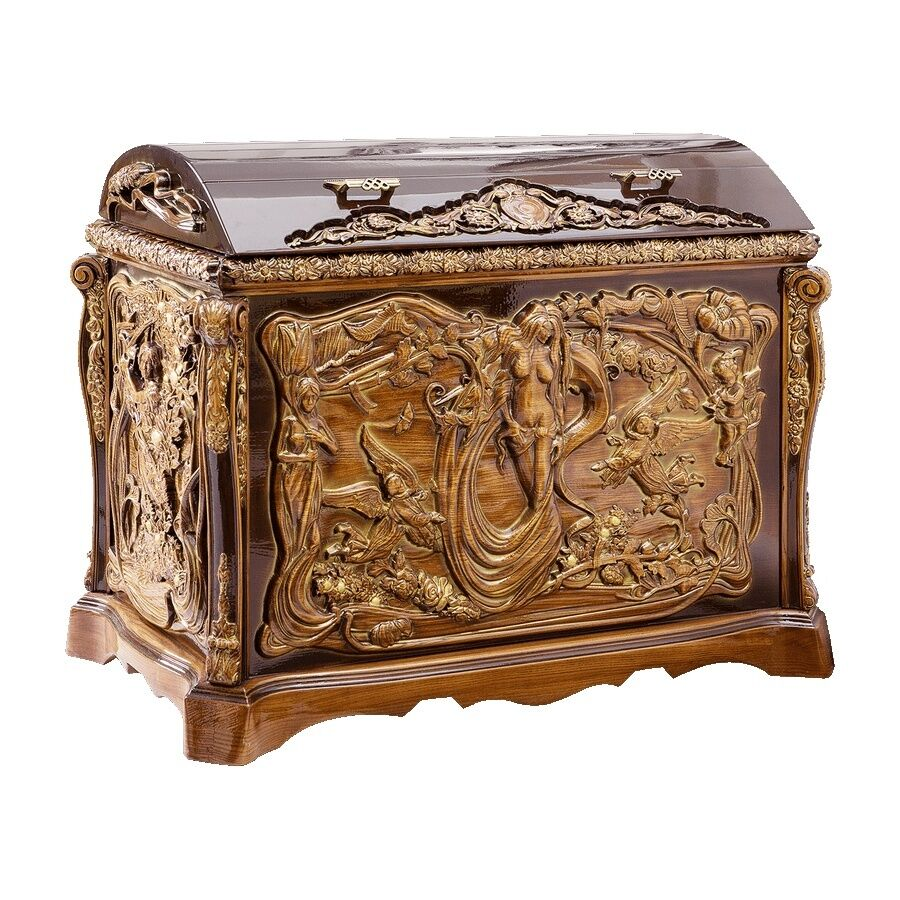 Best Handmade Wooden Decorative Carved Trunk Chest Interior This Month