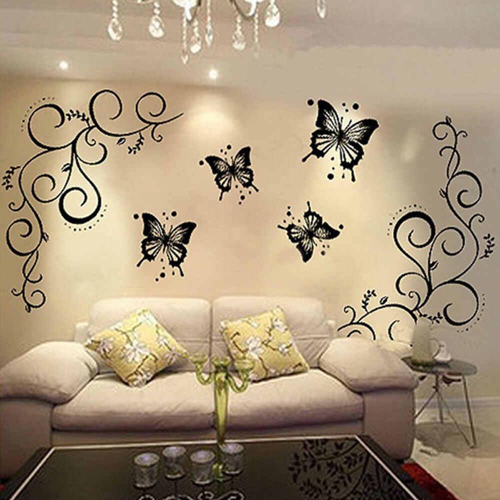 Best Butterfly Vine Diy Removable Vinyl Decal Art Mural Wall This Month