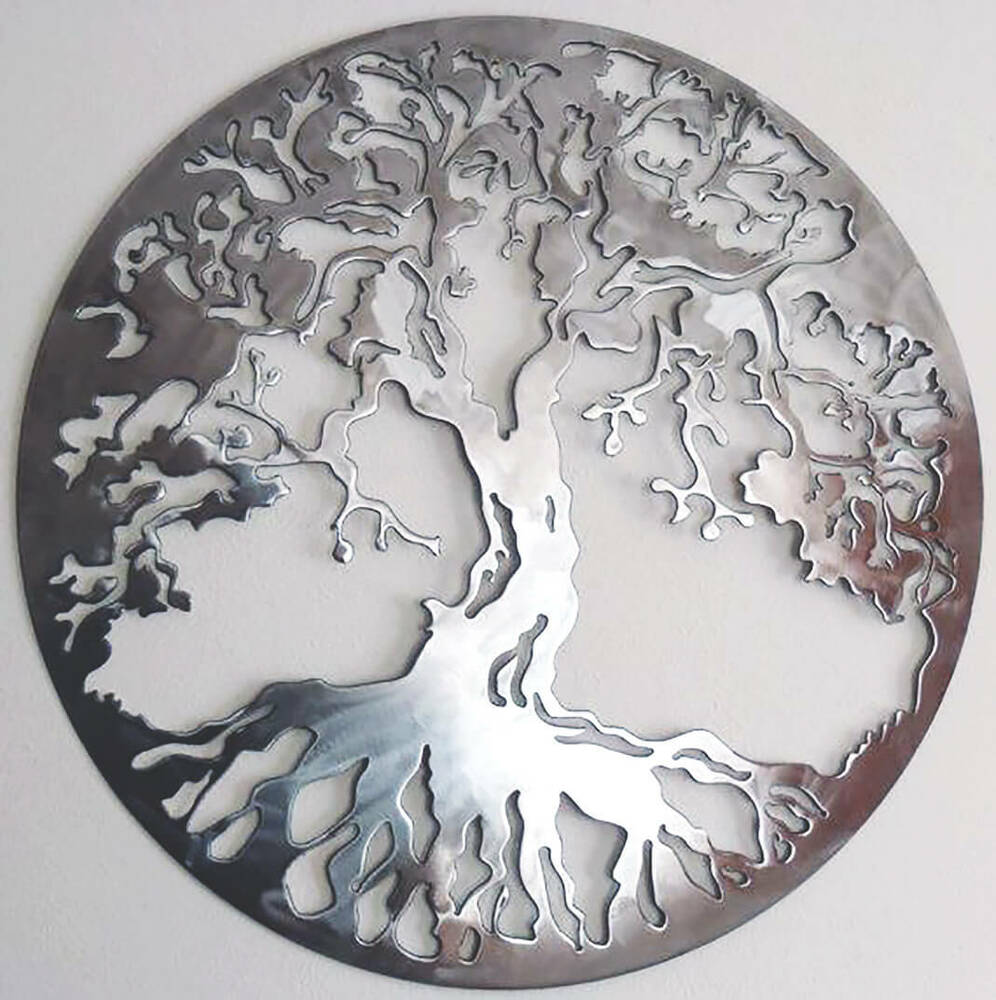 Best Abstract Stainless Steel Wall Sculpture Tree Of Life Art This Month