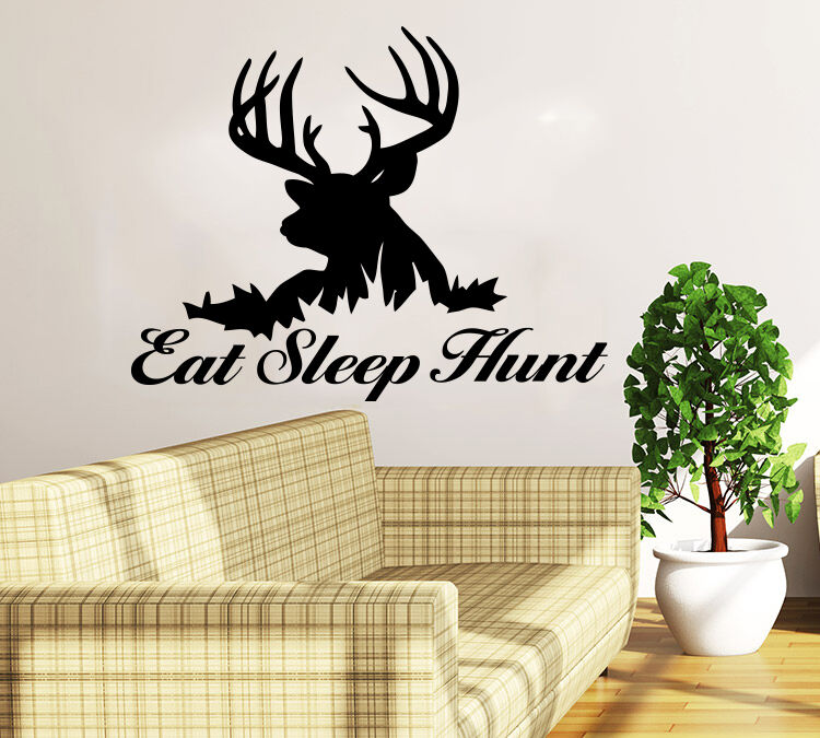 Best Deer Hunting Wall Decal Quote Eat Sleep Hunt Home Decor This Month