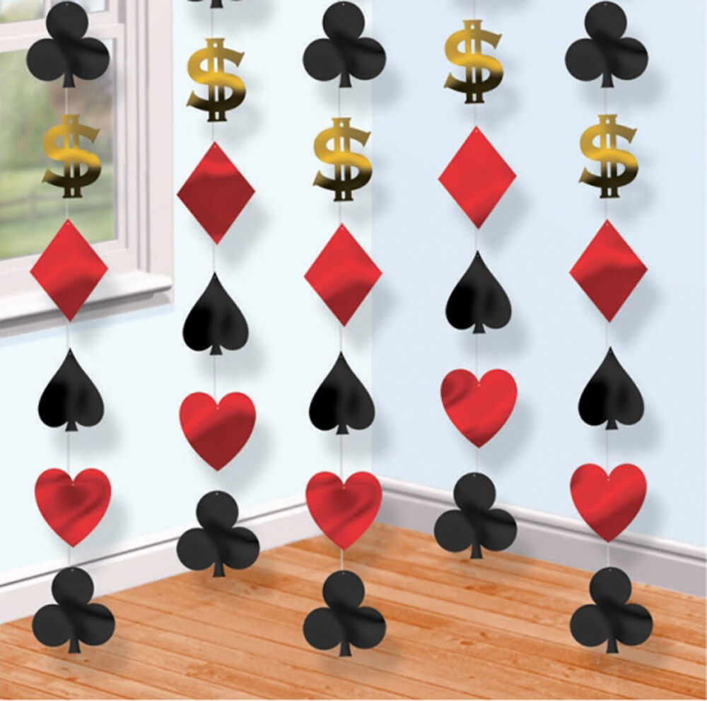 Best Casino Party Hanging String Decorations Cards Vegas Poker This Month