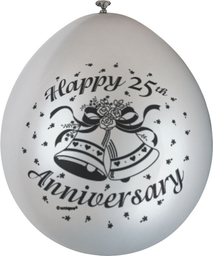 Best 10 X Happy 25Th Anniversary Balloons Silver Wedding Party This Month