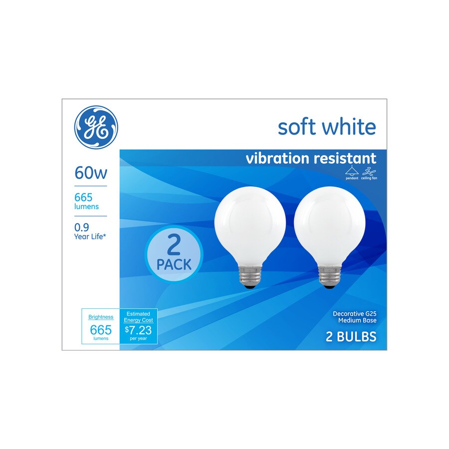 Best Ge Classic 60 Watt Dimmable G25 Decorative Incandescent This Month