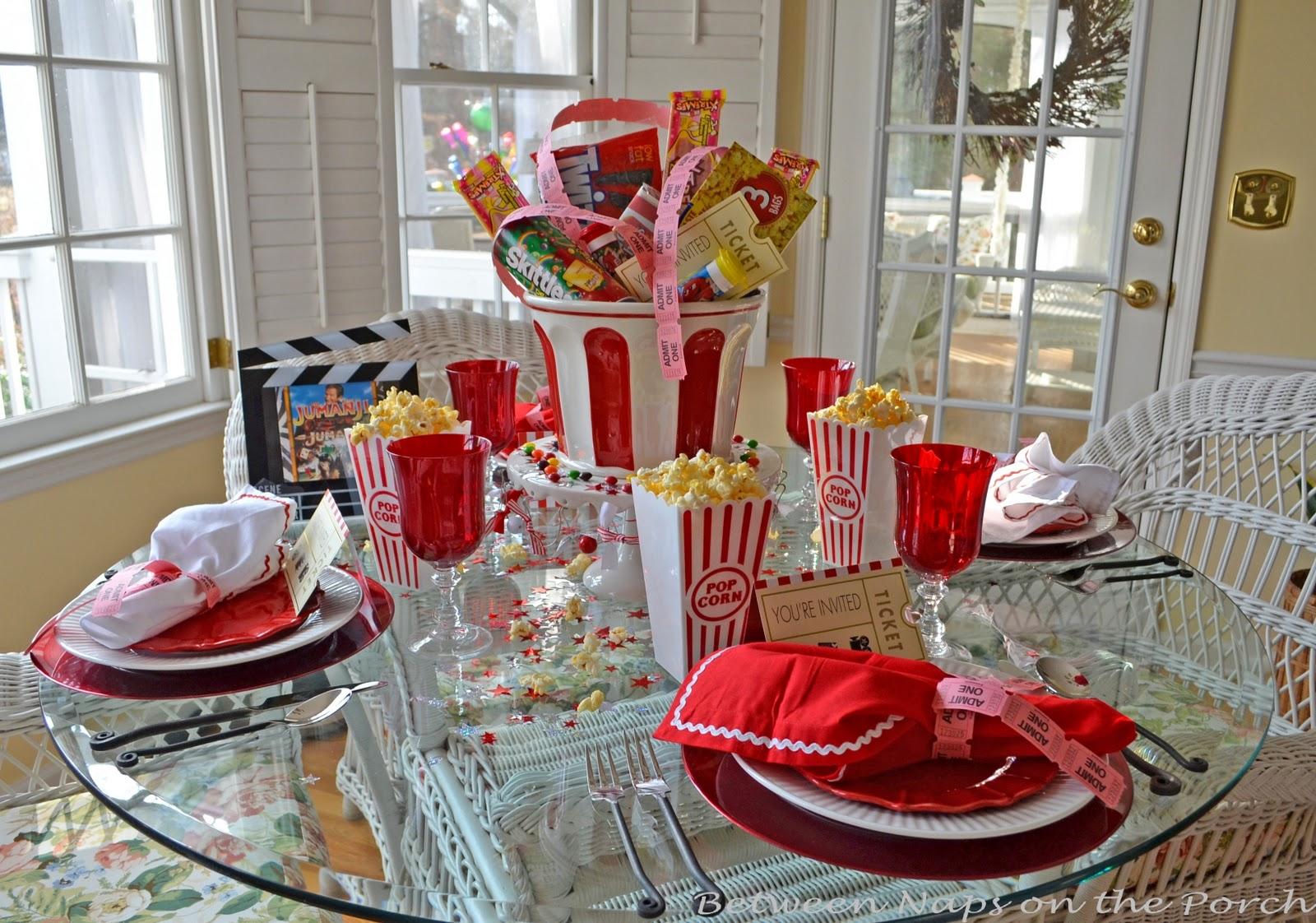 Best Children's Party Table For Movie Night This Month