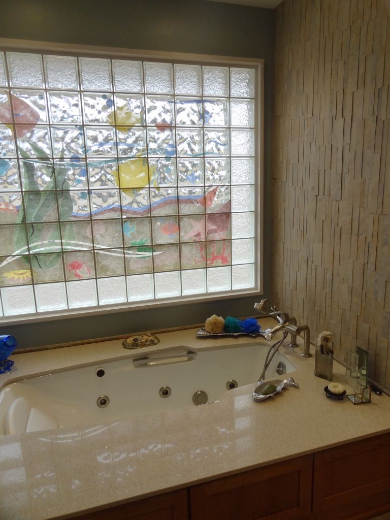 Best Decorative Glass Block Borders For A Shower Wall Or Windows This Month