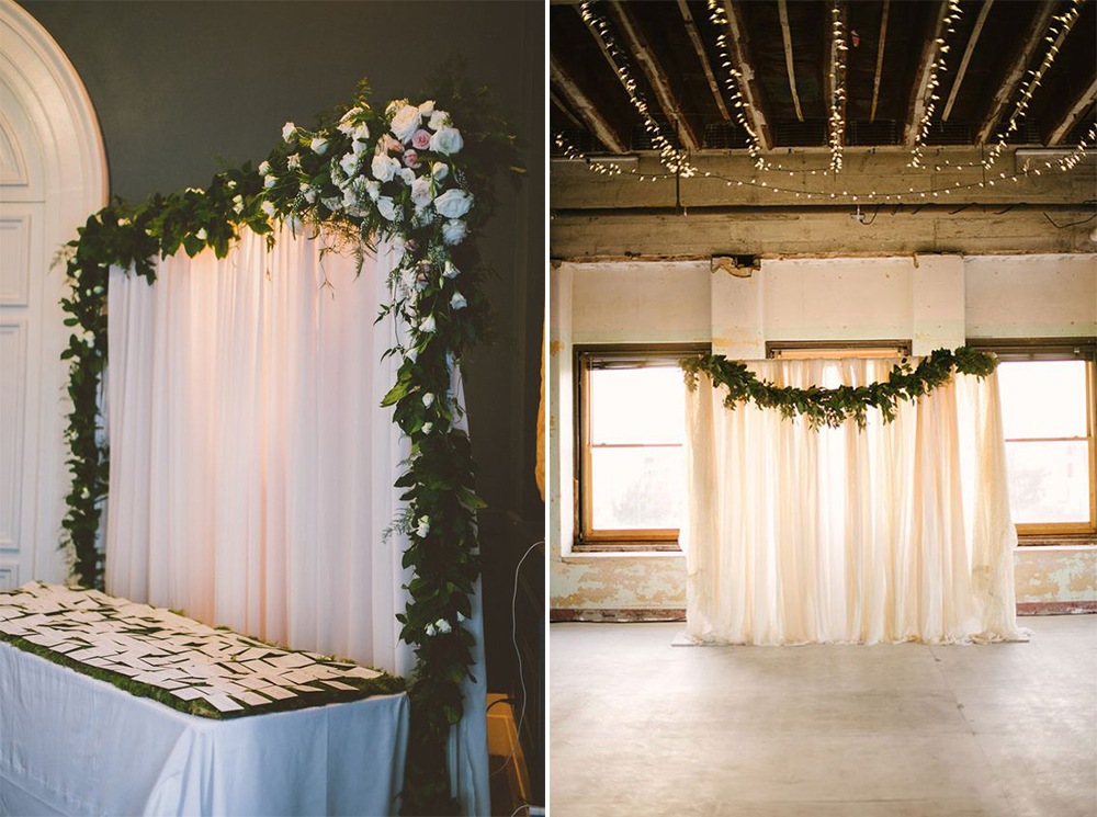 Best 8 Gorgeous Pipe Drape Wedding Backdrops Bridalpulse This Month
