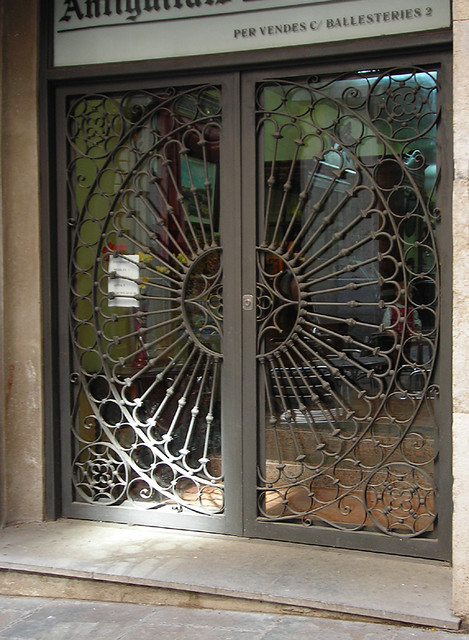 Best Doors With Circle Pattern Security Bars A Photo On This Month