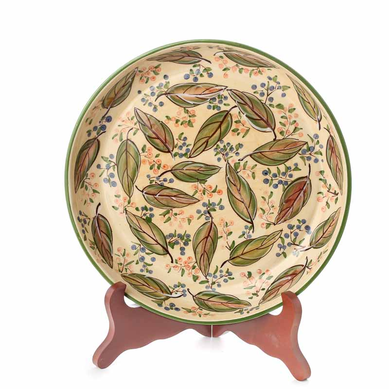Best Ceramic Decorative Leaf And Berry Plate Decorative This Month