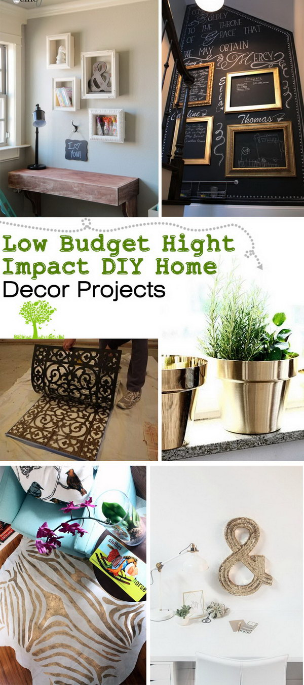 Best Low Budget Hight Impact Diy Home Decor Projects This Month