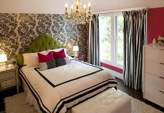 Best Black And White Curtains Contemporary Girl S Room This Month