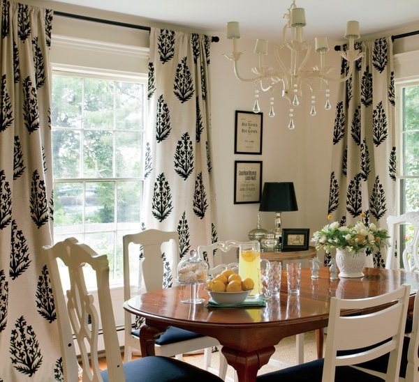 Best Medallion Drapes Cottage Dining Room Nicole Yee This Month