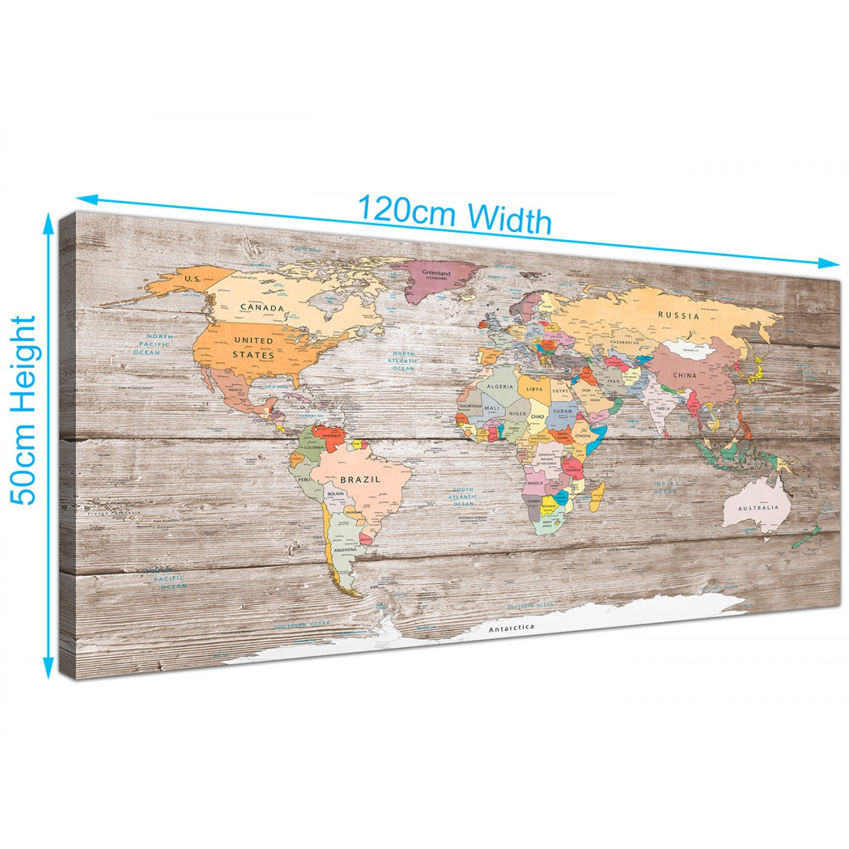 Best Large Decorative Map Of World Atlas Canvas Wall Art Print This Month