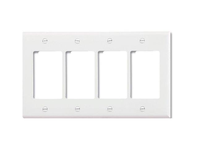 Best Cooper 2064W White Mid Size Four Gang Decorator Wall Plate This Month