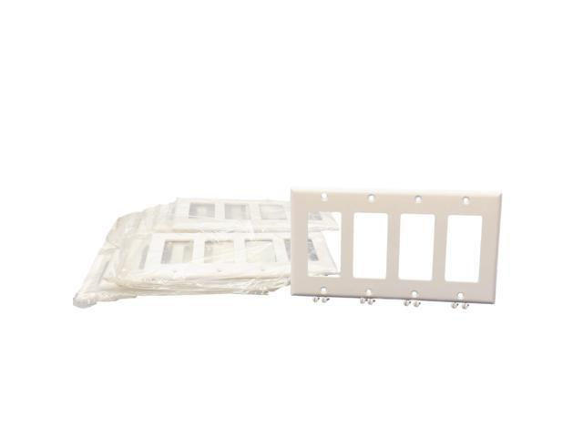 Best Cooper 2164W White Four Gang Decorator Wall Plate Pack Of This Month