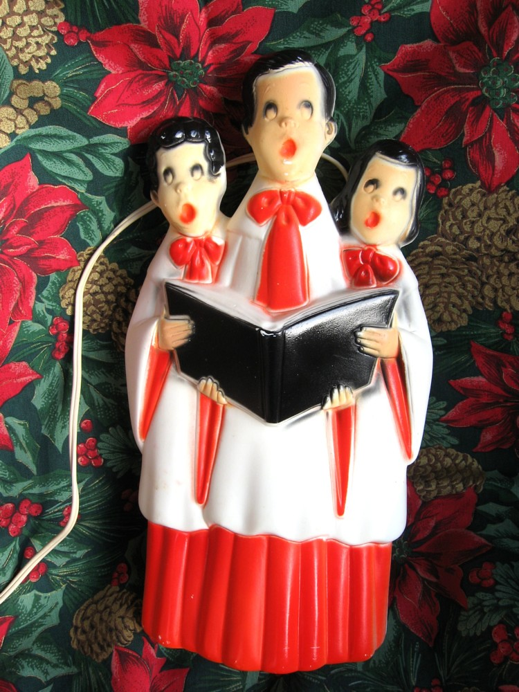 Best Bl*W Mold Vintage Lighted Choir Carolers Plastic Decoratio This Month