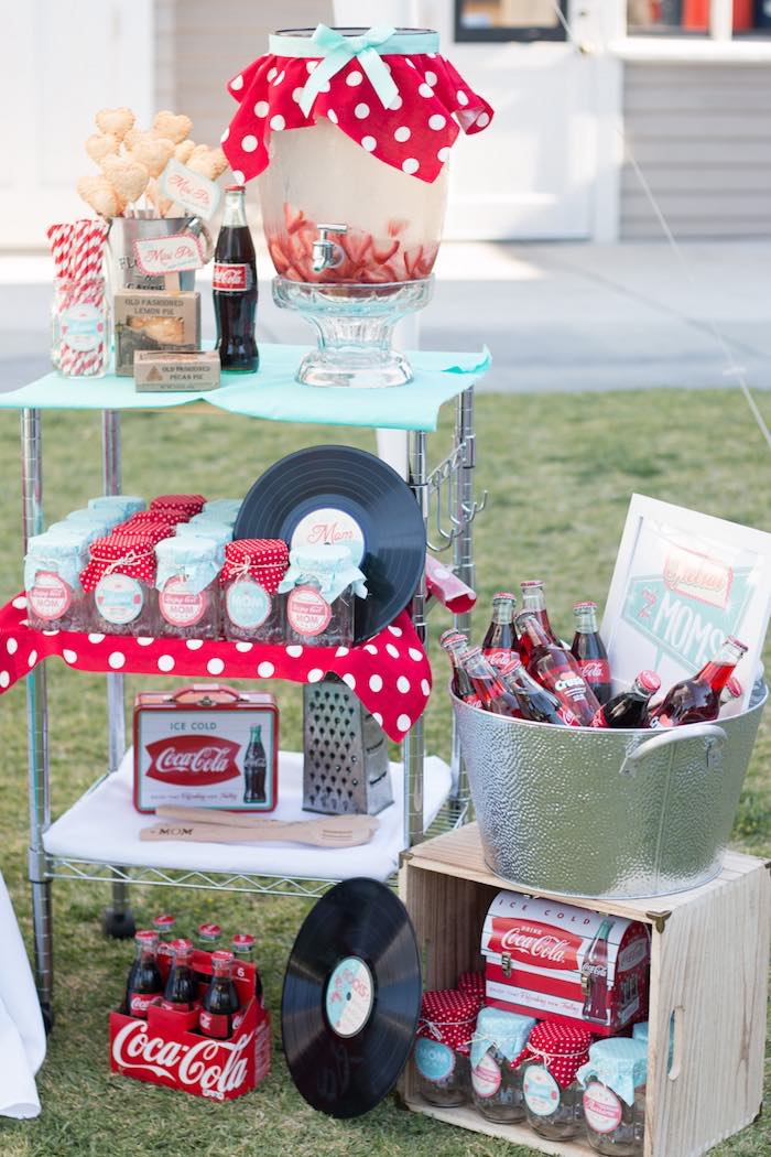 Best Kara S Party Ideas Retro Diner Themed Mother S Day Party This Month