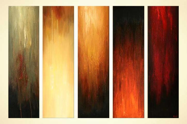 Best Buy Multi Panel Abstract Home Decor Painting 5751 This Month