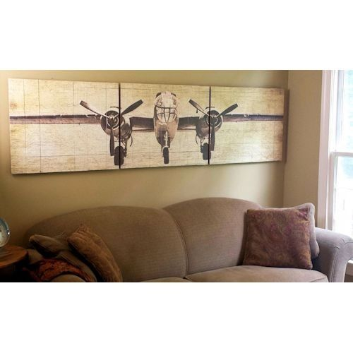 Best Bomber Plane Wooden Triptych Wall Art Great For Aviation This Month