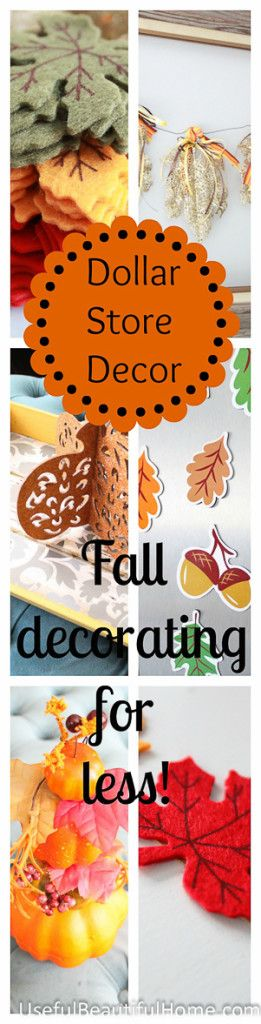 Best Dollar Store Decor Fall Decorating For Less Decor This Month