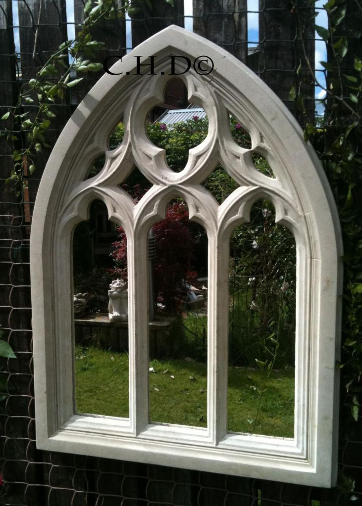 Best Stone Gothic Arched Mirror Church Window Wall Outdoor This Month
