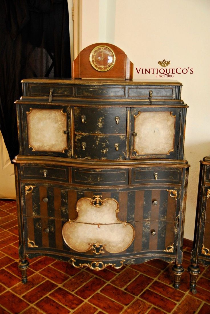 Best Antique Steampunk 3P Shabby Distressed Painted Bedroom This Month