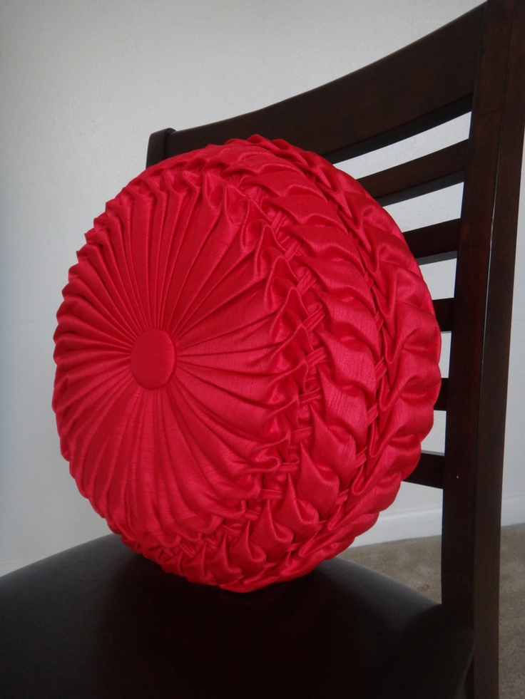 Best Handmade Home Decor Smocked Red Round Pillow By Mebotique This Month