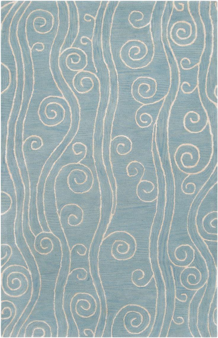 Best Escape Waves Area Rug White On Powder Blue For Jimmy S This Month