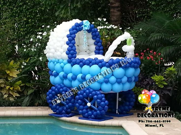 Best Baby Carriage Balloon Sculpture Baby Shower Decoration This Month