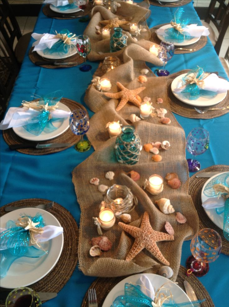 Best Ocean Theme Beach Party Table Nice Decor I D Use Led This Month
