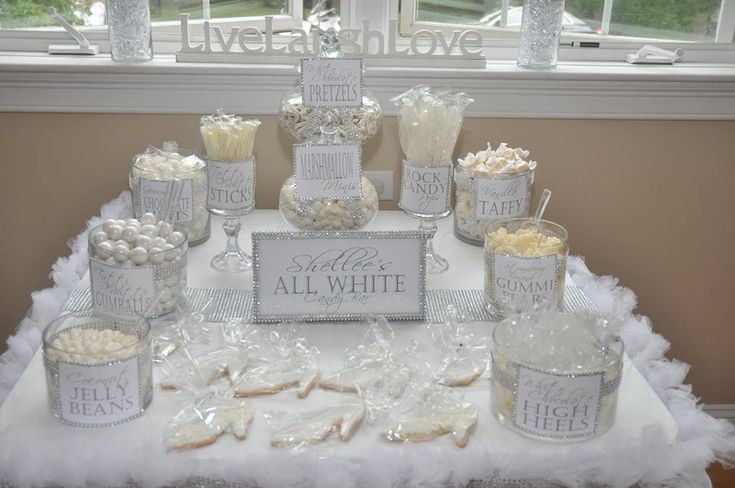 Best Shellee S All White Party 2013 Candy Buffets Popcorn This Month
