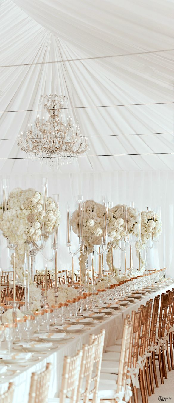 Best Wedding Gold White Tablescape Reception Décor Fabric This Month