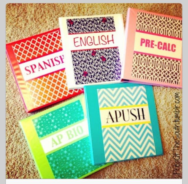 Best Cool Ways To Decorate Your Binders For School School This Month