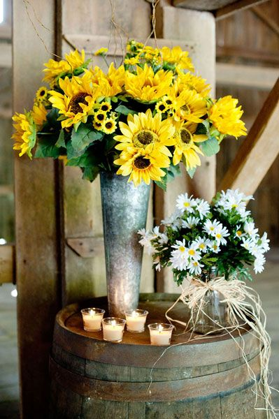 Best Sunflower Daisy Centerpieces Diy Country Wedding This Month