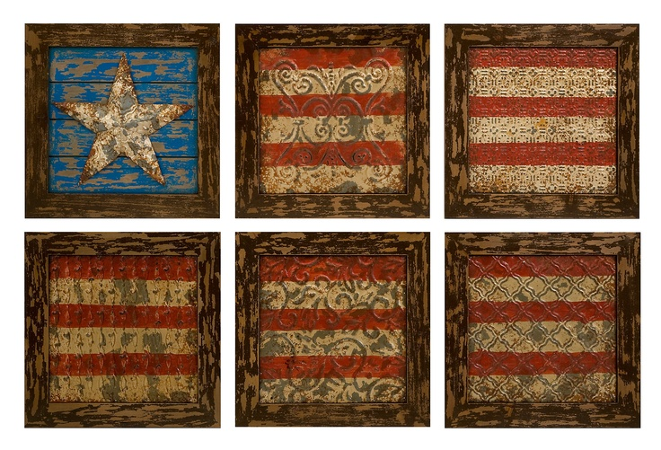 Best One Kings Lane Rustic Americana S 6 American Flag Wall This Month