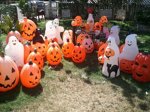 Best Vtg Huge Lot 37 Plastic Halloween Empire Bl*W Mold Ghost This Month