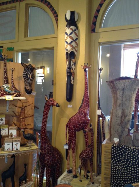 Best Giraffe Wood Carvings And Fang Mask Fair Trade African This Month