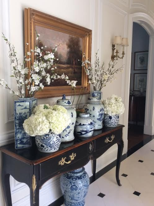 Best Pinterest Pretties Blue And White The Enchanted Home This Month