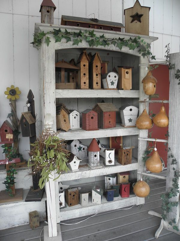 Best Primitive Birdhouse Collection Home Decor Pinterest This Month