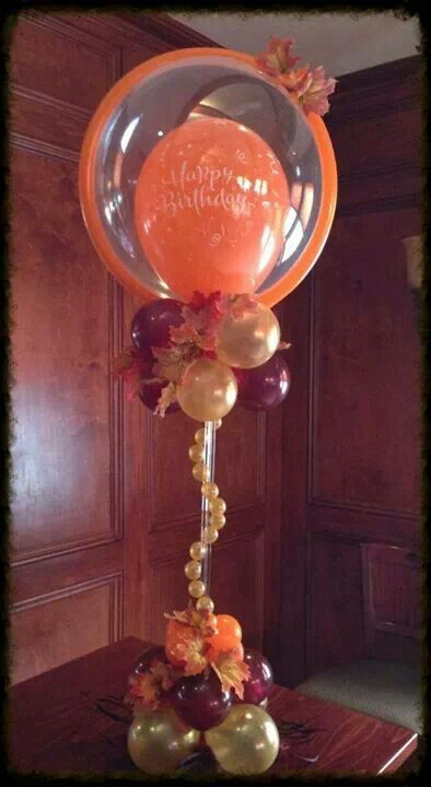 Best Www Elegant Balloons Fall Centerpiece Balloon Decor This Month