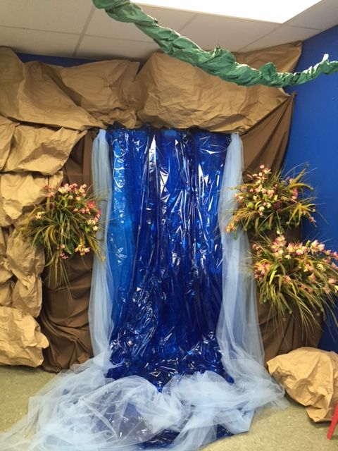 Best Waterfall In A Classroom 2015 Vbs Journey Off The Map This Month