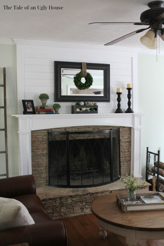 Best Adding Ship Lap Above The Fireplace Mantel Adds Huge This Month