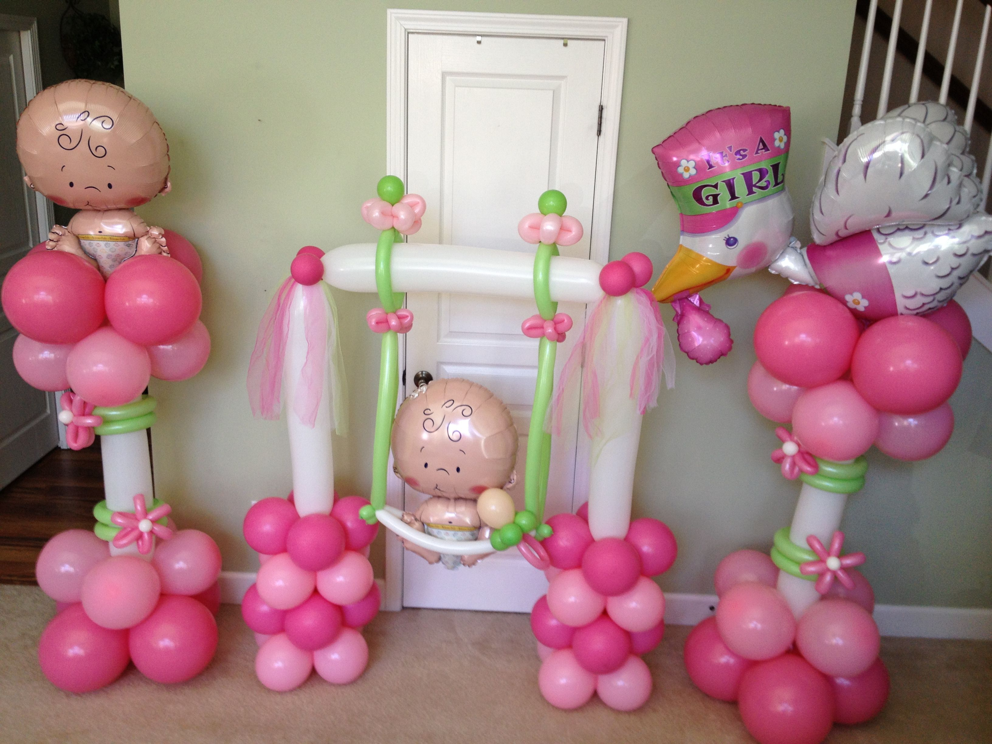 Best Baby Girl Balloon Decorations Baby Shower Balloons This Month