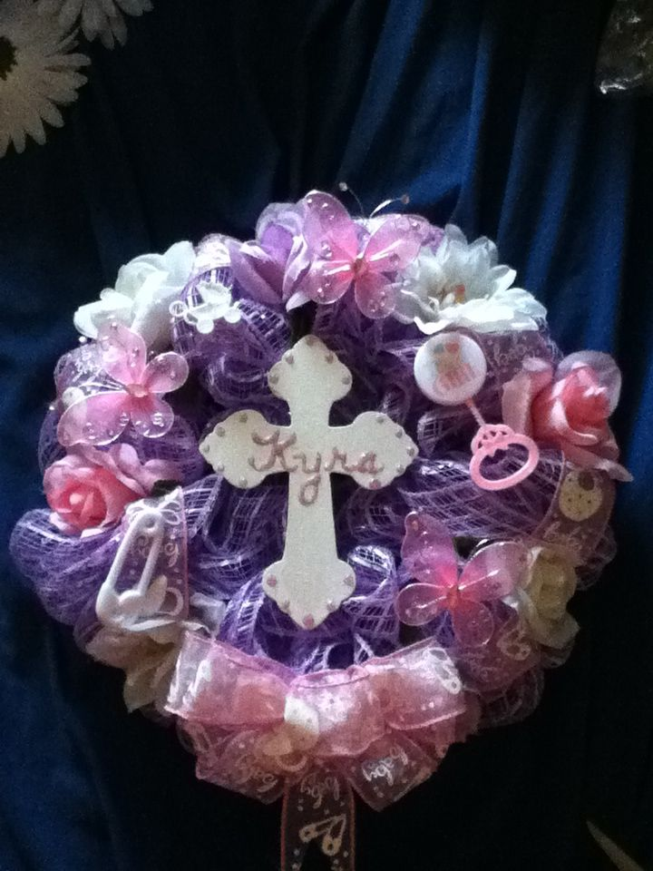 Best Baby Girl Memorial Grave Mesh Wreath Mesh Wreaths This Month