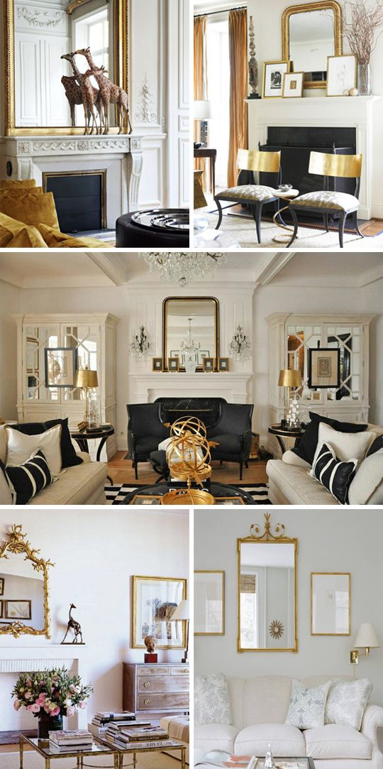 Best Gold Living Rooms See More Gilded Goodness Decor This Month