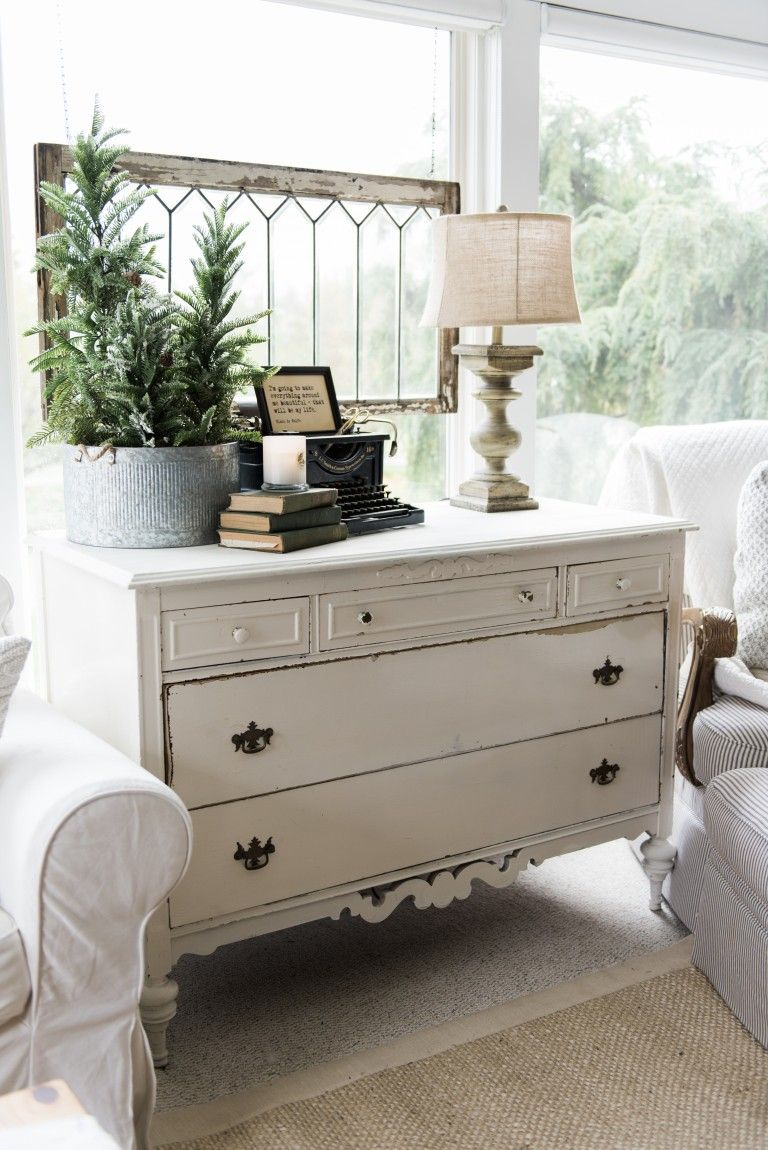 Best A New Old Dresser In The Sunroom Farmhouse Style This Month